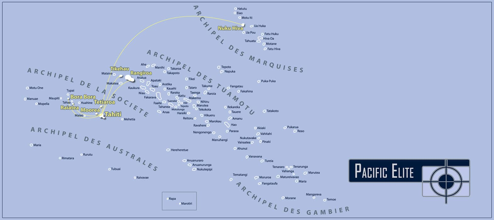 Zones d'interventions Pacific Elite